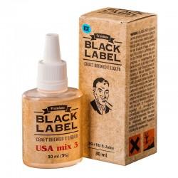 Жидкость Black Label USA mix 3 ice (средне выраженный табачный вкус со свежестью)